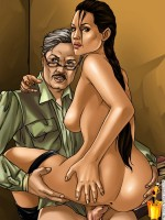 Angelina Jolie cartoon porn