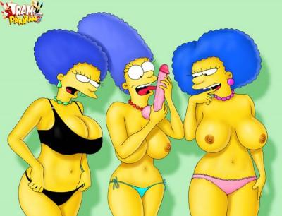 simpsons lesbian threesome toon sex